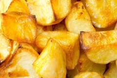 delicious roast potatoes at the carvery